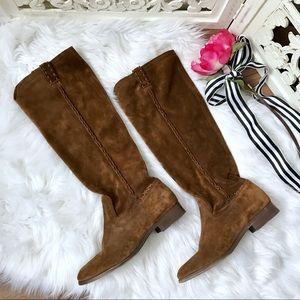 Frye 'Cara' Suede Knee High Boots